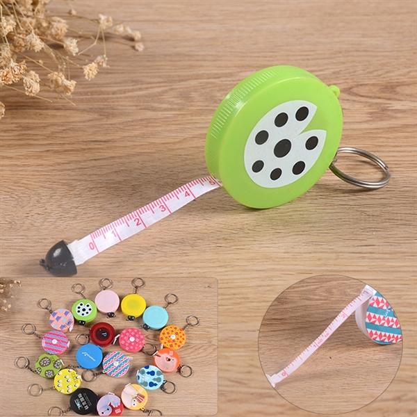 Round Shape Mini Tape Measure with Key Chain