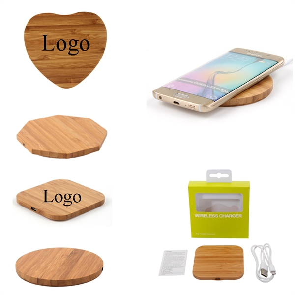 Bamboo Wireless Charger for Smart Phone