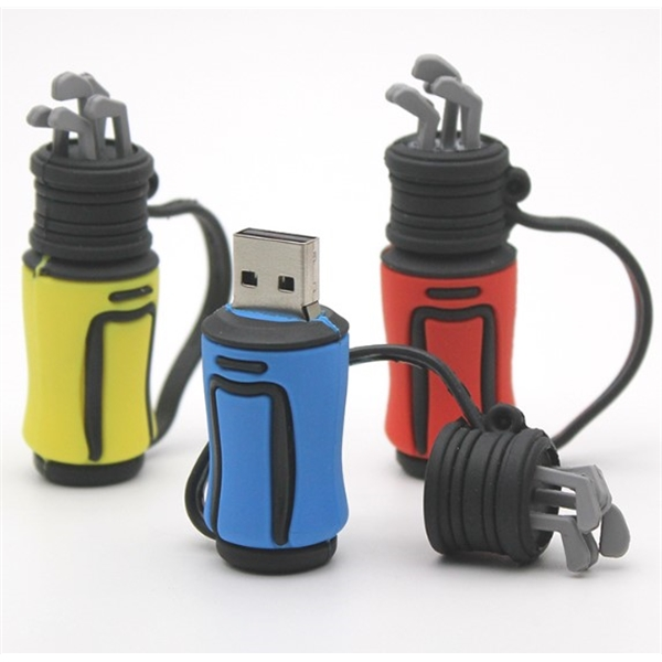 4 GB PVC Golf Bag USB Drive
