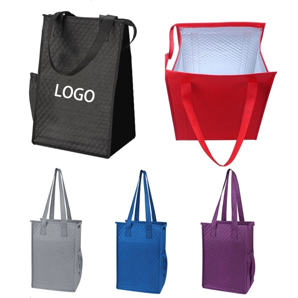 Insulated Lunch-style Tote with Side Pocket