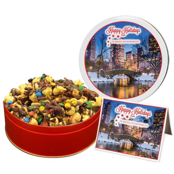 Chocolate Drizzled Toffee Crunch Popcorn - Regular Tin