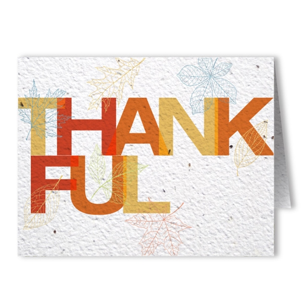 Thanksgiving Seed Paper Greeting Card