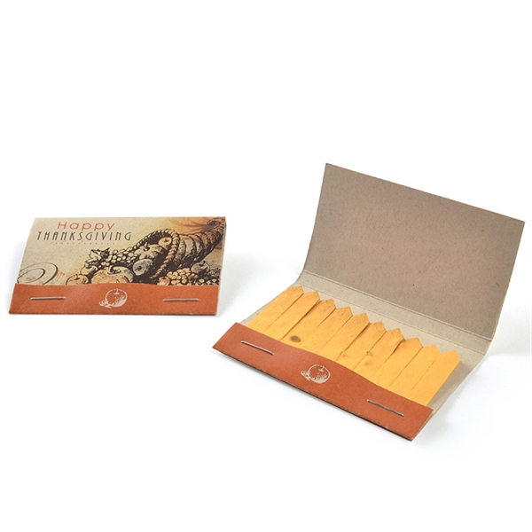Thanksgiving Seed Paper Matchbook