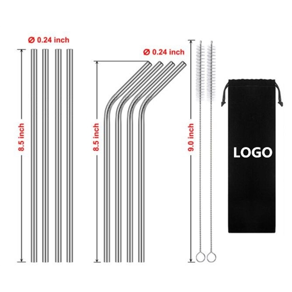 Stainless Steel Straw with Branded Bag,Stainless Steel Straw - Up To 15% OFF