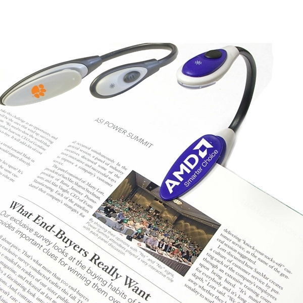 LED flexible flashlight and book light