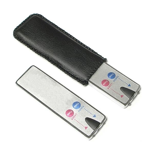 Ultra thin 2 in 1 laser pointer flashlight