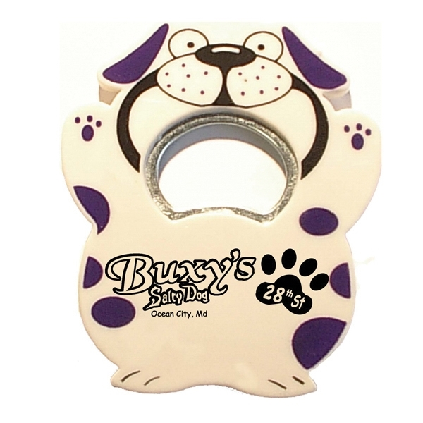 Jumbo size dog shape magnetic bottle opener