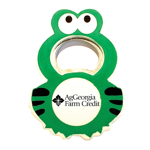 Jumbo size frog shape magnetic bottle opener