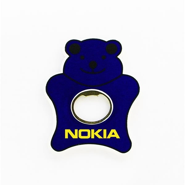 Jumbo size teddy bear shape magnetic bottle opener