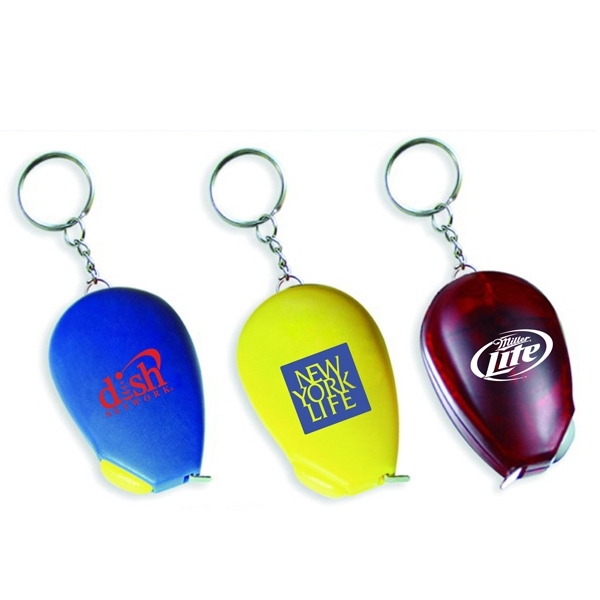 Computer mouse shape tape measure key chain