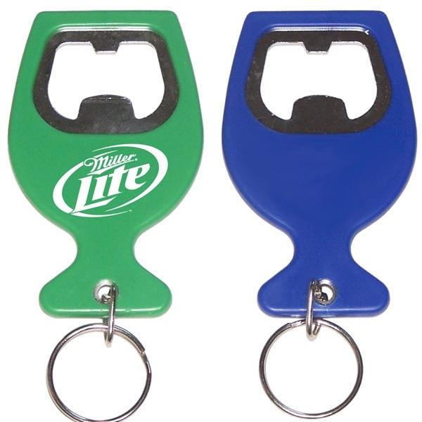 Wine cup shape bottle opener  key chain