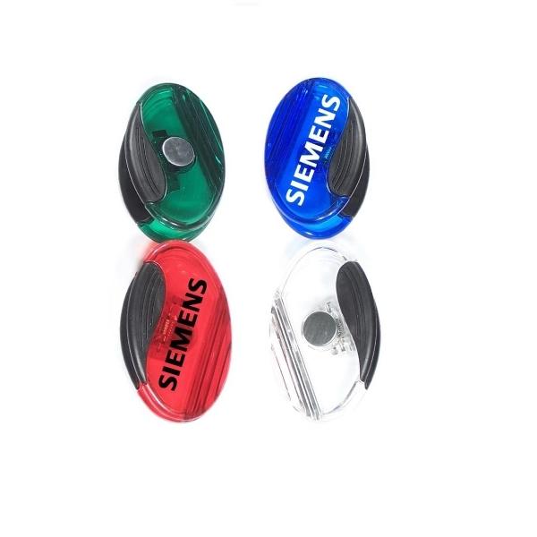 Jumbo size oval magnetic memo clip holder