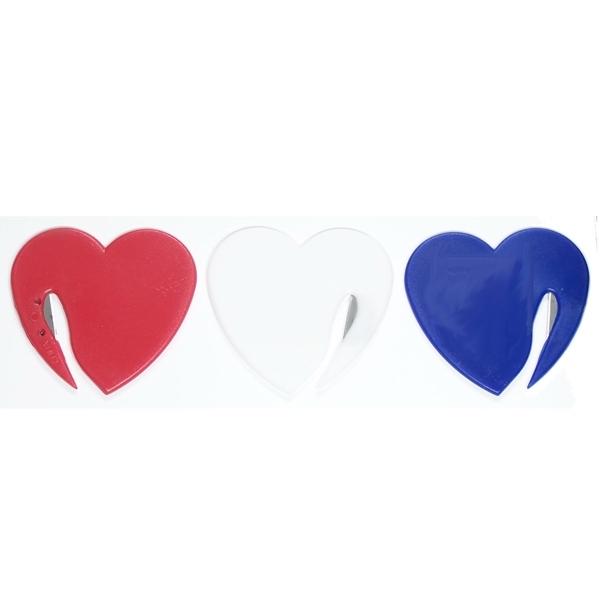 Jumbo size heart shaped letter opener