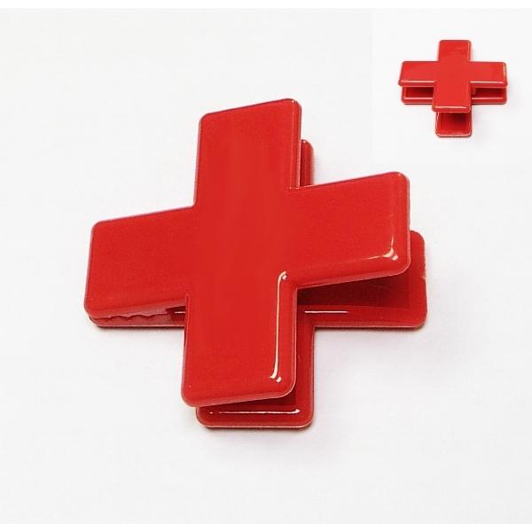 Red cross shape magnetic memo clip holder