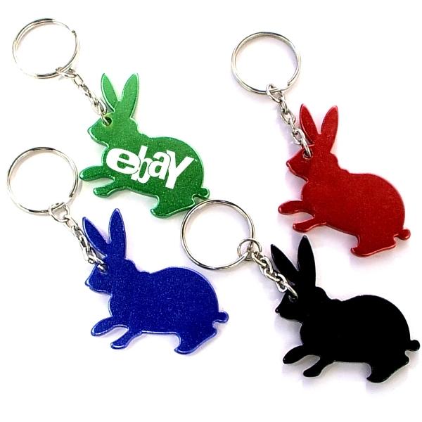 Rabbit shape bottle opener key chain