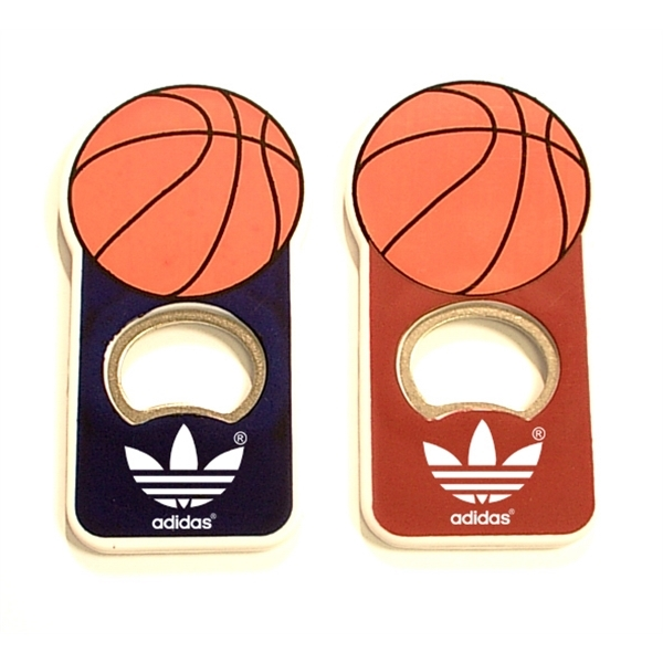 Basket ball shape magnetic bottle opener