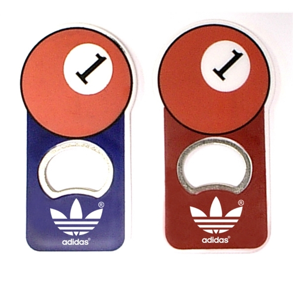 Pool ball shape magnetic bottle opener
