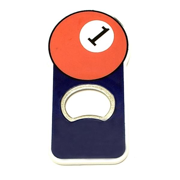 Pool ball shape magnetic bottle opener