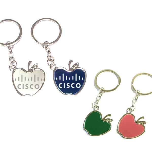 Chrome metal key holder