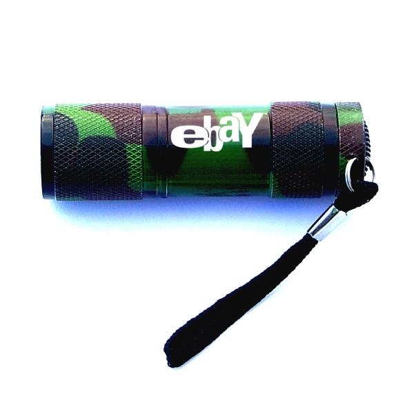 Aluminum 9 LED flashlight with Batteries