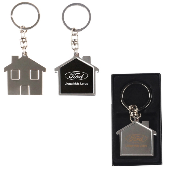 Chrome metal key holder with Gift Case