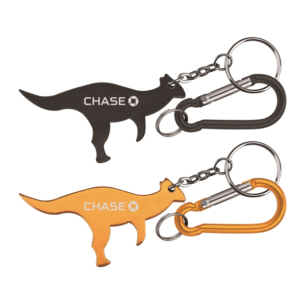 Dinosaur Shaped Aluminum Bottle Opener with with Carabiner