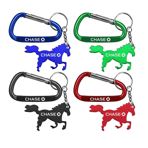 Horse / Pony Shape Key Chain and Carabiner