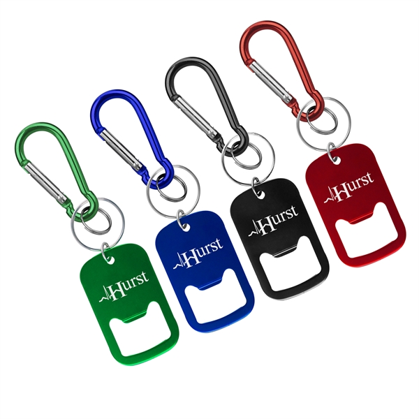 Metal Bottle Opener with Key Ring and Carabiner