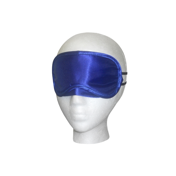 Blue Satin Sleep Mask - Blue satin sleep mask.