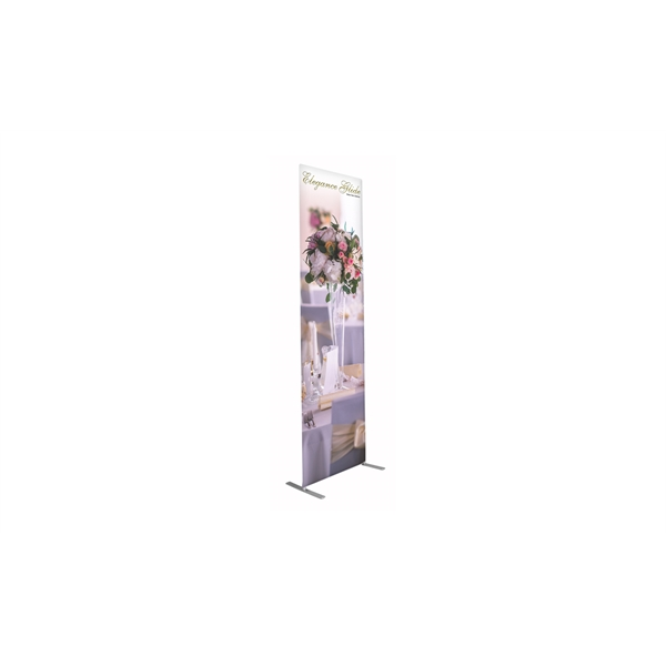 Elegance Glide Tension Fabric Banner Stand - Single-Sided