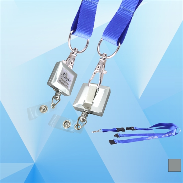 Metal Color Badge holder with Lanyard