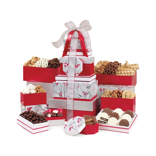 Best of the Season Gourmet Sweets and Treats Tower
