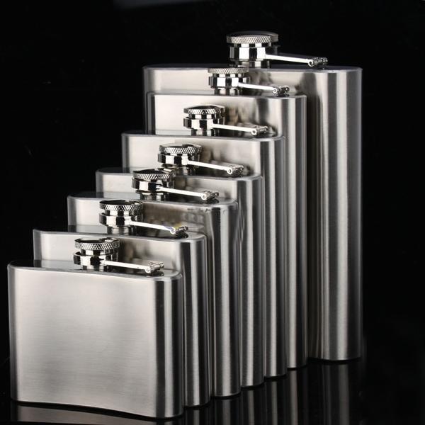 8 OZ Stainless Steel Liquor Wine Whiskey Pot Flagon Flask