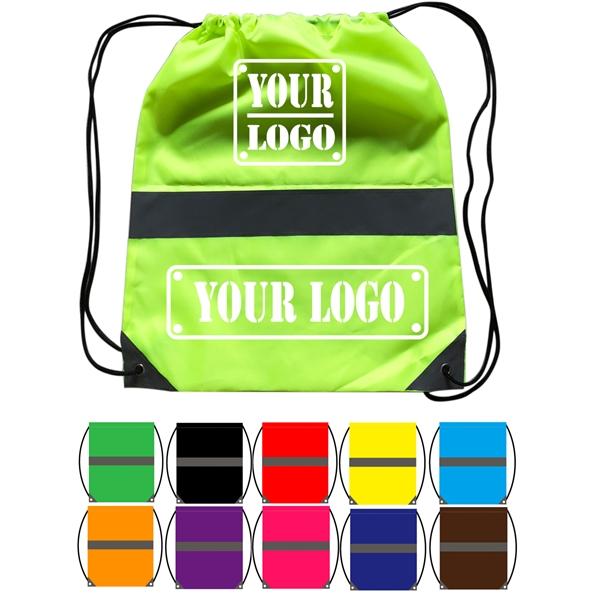 Neon Polyester Drawstring Bag