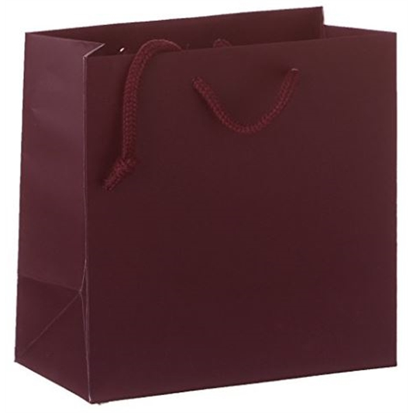 Burgundy Matte Laminated Heavy Paper Tot