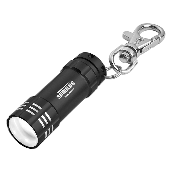 Mini Aluminum LED Flashlight With Key Clip