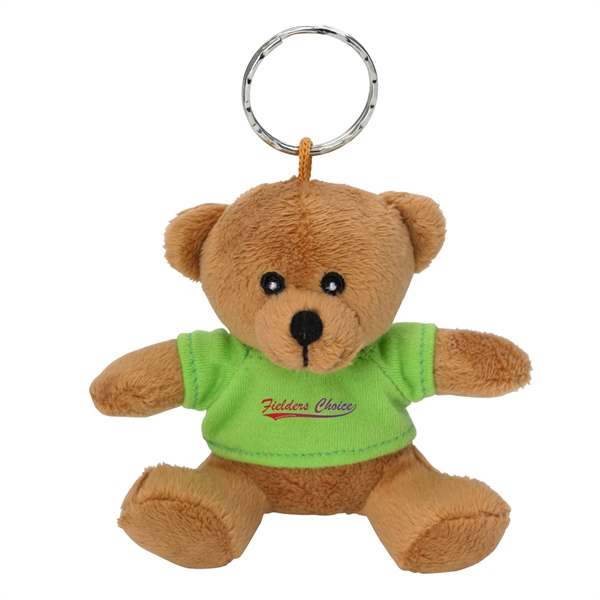 "Mini Bear Key Chain - 3 1/2"" mini brown bear key chain."