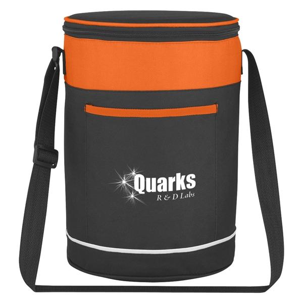 Barrel Buddy Round Kooler Bag - Cooler bag with large outside front pocket.