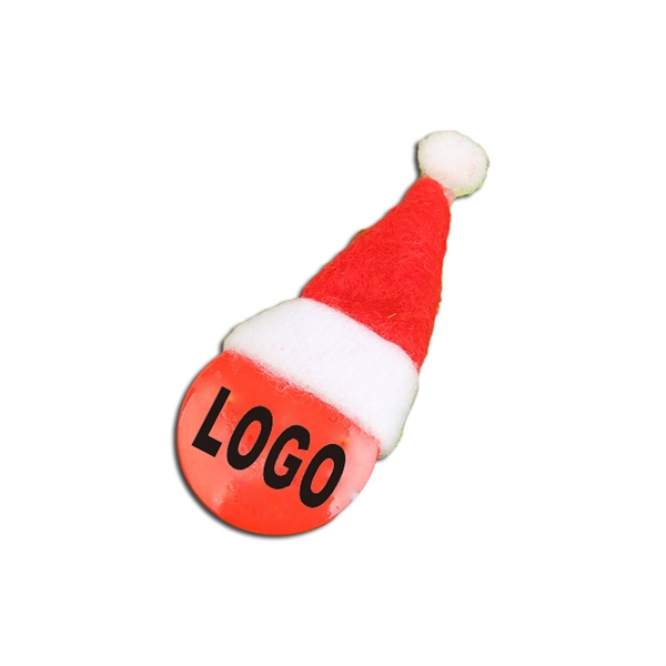 Christmas Hat Button Pins And Badges