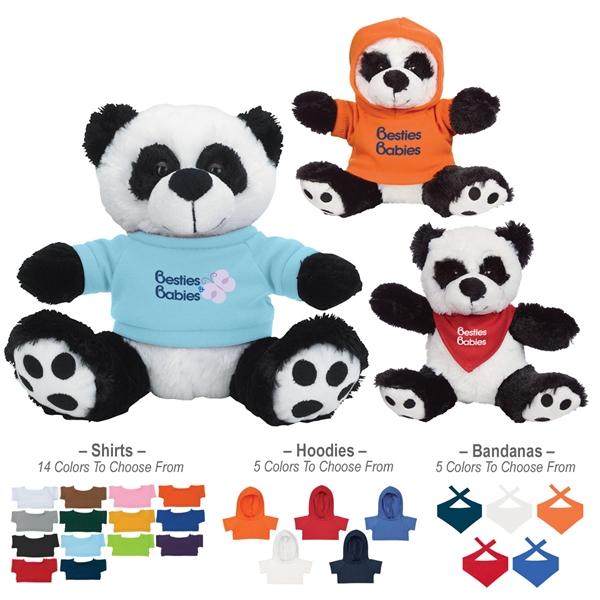 "8 1/2"" Big Paw Panda With Shirt"