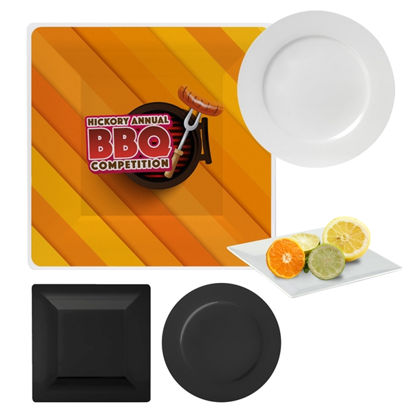 """9 1/2"""" Full Color Square Plate"""