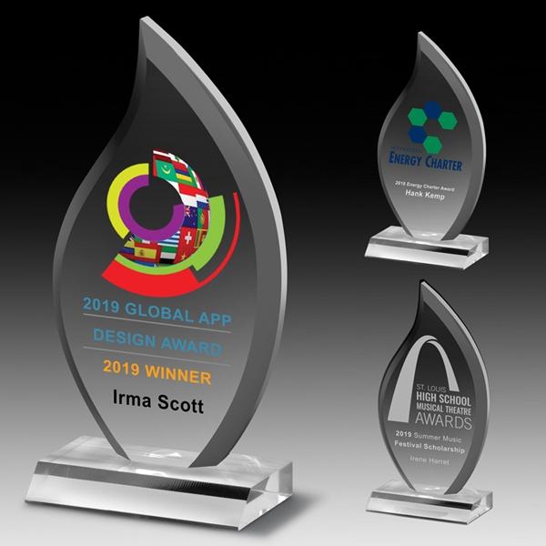 Multi-Faceted Acrylic Flame Award - 4