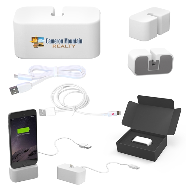 PowerBase Charging & Docking Station With MFi Cable