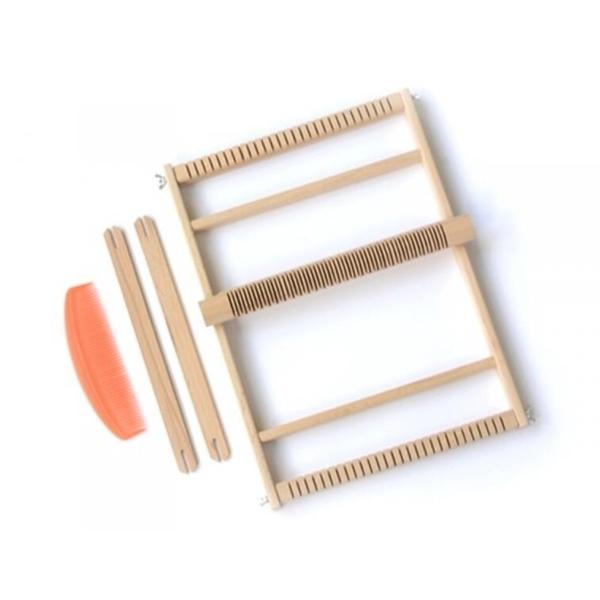 Wooden craft supply weaving loom