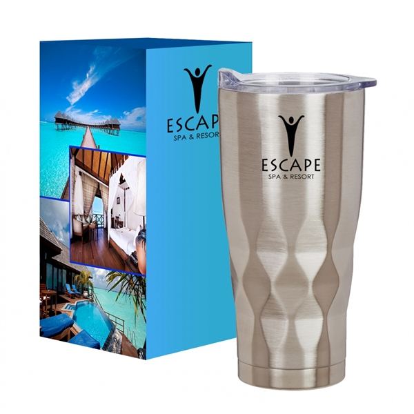 22 Oz. Vortex Stainless Steel Tumbler With Custom Box
