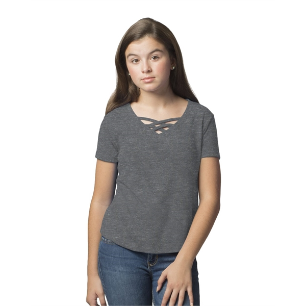 Boxercraft Girls' Caged Front T-Shirt