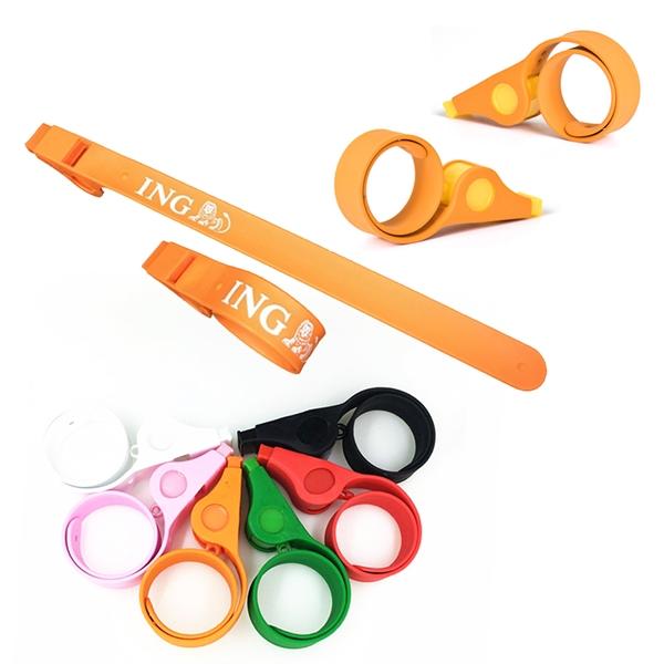 Silicone Slap Bracelet With Whistle