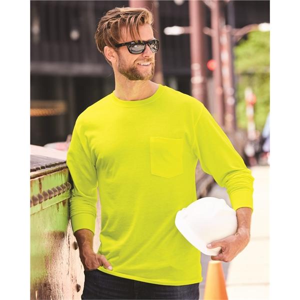 Hanes Workwear Long Sleeve Pocket T-Shir