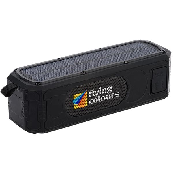9W Solar Waterproof Bluetooth® Speaker/Power Bank