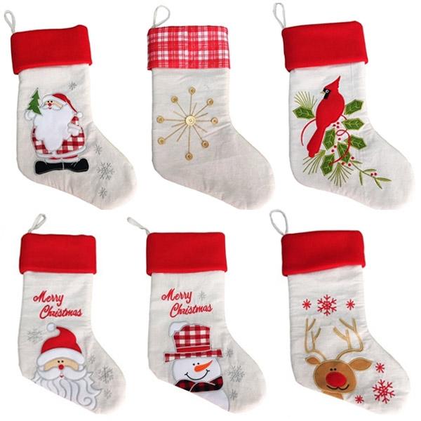 6 Designs Christmas gift stocking